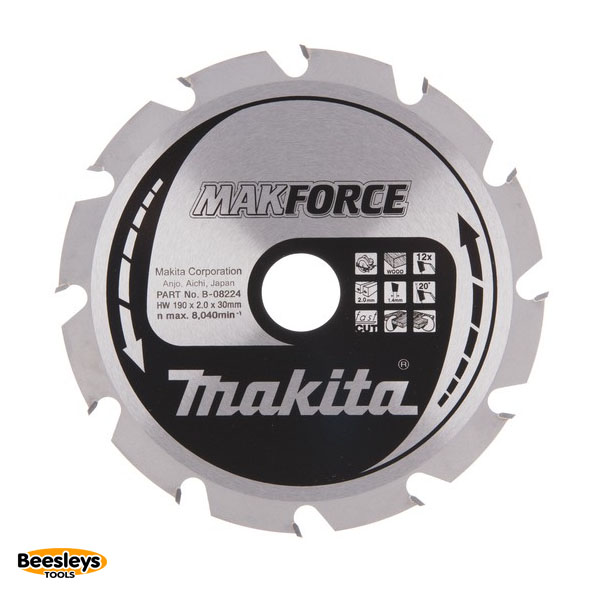 Makita B-08224 190mm 12tooth Blade for Wood