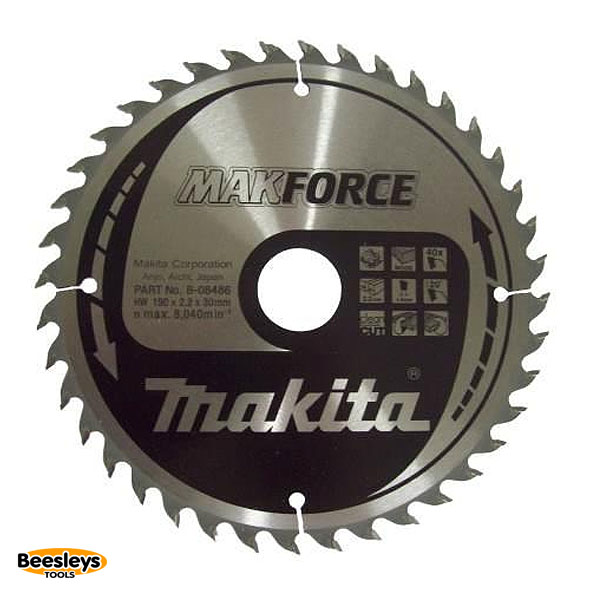 Makita B-08486 190mm 40tooth Blade for Wood
