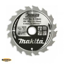 Makita B-10643 136mm 16tooth Blade for Wood