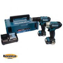 Makita CLX228AJ 10.8v CXT Twin Pack HP333D Combi Drill & TD110D Impact Kit
