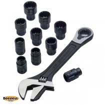 Crescent® X6™ Pass-Thru™ Adjustable Wrench Set, 11 Piece
