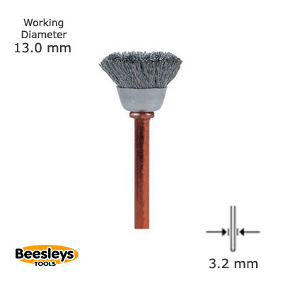Dremel 531 Cup Shape s/steel Brush - pack of 2