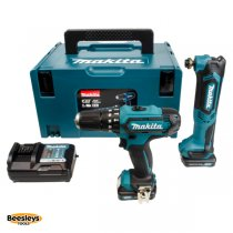 Makita CLX203AJX1 10.8V CXT Twin Pack HP331D Combi Drill & TM30D Multitool Kit