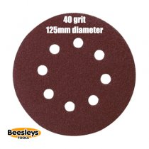 Makita P-43533 125mm Round Abrasive 40grit (pack 10)