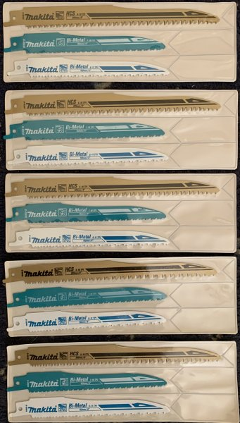Makita Reciprocating Saw Blades for Wood and Metal - Super Express - Mixed Pack of 15