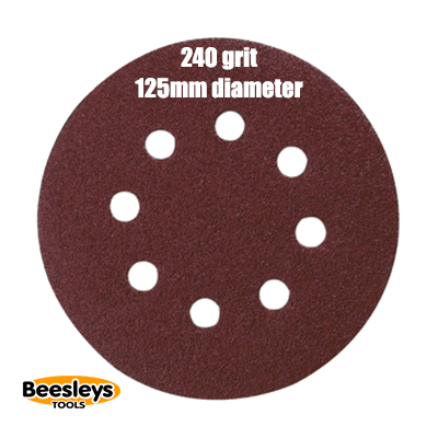 Makita P-43599 125mm Round Abrasive 240grit (pack 10)