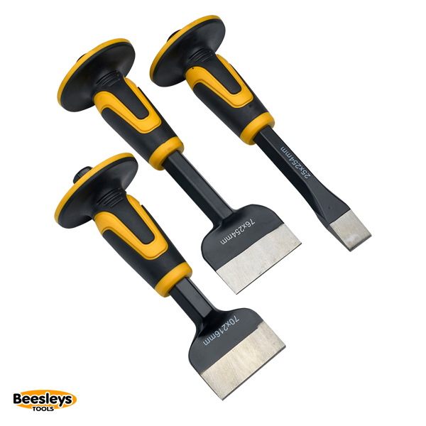 Roughneck Chisel & Bolster Set, 3 Piece